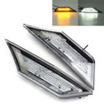 New LED Car Transparent Side Marker Lights Turn Signal Corner Parking Lamp for Honda Civic 10 16-18