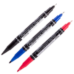 New Deli 12pcs Colored Dual Tip 0.5/1 mm Fast Dry Permanent Sign Marker Pens