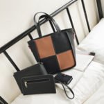 New Women Four-piece Set Stitching Color Personalized Handbag