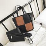 New Women Four-piece Set Stitching Color Personalized Handbag