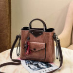 New Women Faux Leather Handbag Tassel Leisure Crossbody Bag
