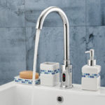 New Hands Touch Free Automatic Electronic Sensor Control Bathroom Kitchen Sink Tap Basin Faucet