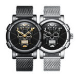New Biden 0086-1 3D Skull Fashion Style Creative Men Wrist Watch
