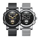New Biden 0086-1 3D Skull Fashion Style Creative Men Wrist Watch