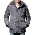New Mens Winter Windproof Pockets Furry Hood Warm Padded Jacket