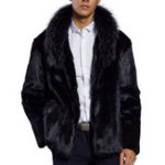 New Mens Winter Thick Warm Faux Fur Coat Outerwear Jacket