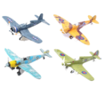New 4D Metal Plane Model Aircraft Assemble Flying Diecast Model 18*22CM  Educational Collection Toy
