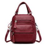 New Women Trend Multifunctional Shoulder Bag Backpack Handbag