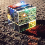 New 20mm/23mm/25mm Optical Glass Crystal Combiner Prism X Cube RGB Dispersion Splitter w/ Gift Box