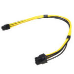 New 27cm 18AWG EPS Pcie 6PIN Male To PCI-E 6PIN Male Power Extension Cord Cable