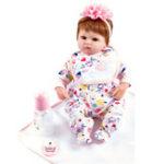 New Reborn Handmade Lifelike Newborn Girl Doll Silicone Vinyl Baby Doll Gift