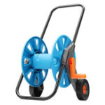 New 197FT Movable Garden Watering Trolley Watering Hose Pipe Cart Stand Holder Winder
