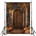 New 5x7FT Vinyl Halloween Pumpkin Castle Photography Backdrop Background Studio Prop