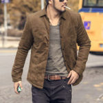 New Men Fall Winter Vintage Trendy Slim Light Warm Padded Jacket