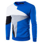 New Mens Knitted Geometric Patterns Pullover Sweaters