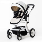 New Baby Stroller Foldable High View Reversible Seat Baby Pram Off Road Model Shockproof Baby Pushchair