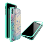 New Nillkin Magnetic Adsorption Tempered Glass PC Protective Case For iPhone XR Fashion Flower Pattern