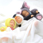 New 17cm Sleeping Baby Reborn Cute Animal Plush Doll Stuffed Animal Toys Boys Girl Toys