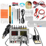 New Handskit 9305D 4 in 1 Hot Air Rework Station + Soldering Iron Station + 30V 5A DC Switching Power Supply + DC 5V 2A USB