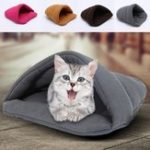 New Pet Cat Dog House Kennel Puppy Cave Sleeping Bed Super Soft Mat Pad Warm Nest