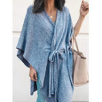 New Women Loose Half Sleeve Irregular Hem Cape Poncho Coats