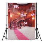 New 5x7FT Vinyl Castle Pink Balloon Photography Backdrop Background Studio Prop