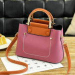 New Leisure Faux Leather Bucket Handbag