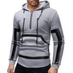 New Men's Half Zipper Cotton Printing Hoodies