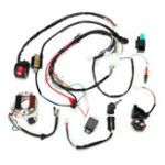 New 50cc 70cc 90cc 110cc Ignition Wiring Harness Kit Assembly ATV Quad  Electric Start