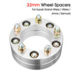 New 32mm Wheel Spacer Hub Centric Flange For Suzuki SJ Samurai Jimny Grand Vitara Chrome