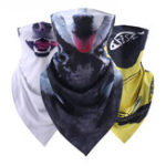 New Unisex Animal Print Anti-UV Triangle Half Face Mask Scarf