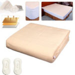 New 2×1.8M Electric Super King Size Blankets Heated Mattress Fitted Bedside Dual Controller