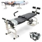 New Therapy Massage Bed Table Cervical And Lumbar Neck Waist Traction Folding Bed Stretching Device