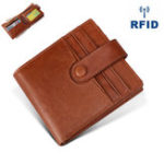 New RFID Antimagnetic Genuine Leather 12 Card Slots Wallet
