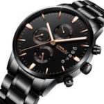 New CRRJU 2222 Chronograph Full Steel  Business Style Men Watch