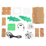 New Upgraded Version DIY Colorful Christmas Tree Electronic Production Kit With Shell