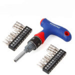 New WORKPRO 21 in 1 Precision Screwdriver Set Dual Drive T Type Handle Express Ratcheting Driver Set