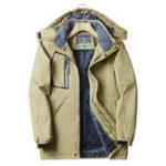 New Mens Outdoor Thick Fleece Waterproof Quick Dry Hooded Jacket