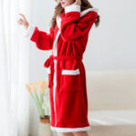 New 2XL Thick Warmth Christmas Belt Sleepwear