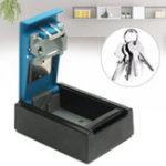 New Alumium Alloy Blue 4-digit Key Storage Box Wall Hanging Keybox Combination Code Lock Storing Keys