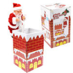 New Christmas Gift Santa Claus Climb Chimney 8.3 Inch Music Play Novelty Electric Toys