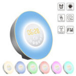 New Sunrise Alarm Clock Digital Wake Up Light with Sunrise Sunset Simulation Sleep