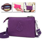 New JINQIAOER Women Waterproof Three Layers Solid Crossbody Bag