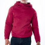New Men's Cotton Double Pockets Overhead Hooded Sweatshirt