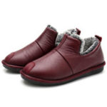 New Winter Keep Warm Slip On Casual Ankle Snow Boots