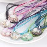 New Bohemian Ocean Romance Shell Pearl Inside Hemisphere Pendant