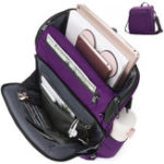 New Brenice Women Men Nylon Multi-Pockets Casual Crossbody Bag