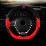 New 38cm Universal DIY Microfiber Leather Car Steering Wheel Covers Non Slip With Needles and Thread