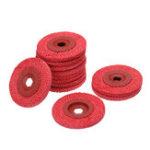 New 12pcs 4 Inch Red Rough Hemp Rope Abrasive Flap Disc 100x16mm Polishing Wheel