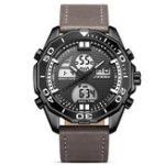 New SINOBI 9730 Men Luminous Display Dual Display Digital Watch